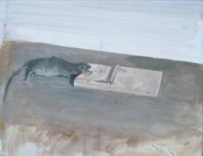 Dead mouse, oil on canvas 25 x 20 cm, 2015