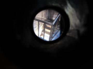 Stereoscopic slide viewed through viewfinder.