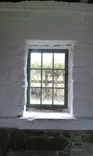 Window opening, Multi-stereoscope built to fit existing opening, utilising natural light as light source for viewing slides.