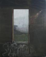 Folding into fog, Egg tempera on gesso panel, 45 x 56 cm, 2009