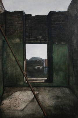 Interior, egg tempera on gesso panel, 61 x 91 cm, 2009