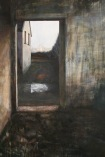 The gable, egg tempera on gesso canvas, 122.5 x 144.5 cm, 2009