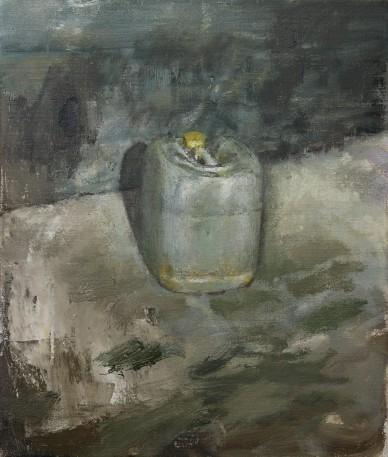 Plastic drum, oil on linen, 33 x 24 cm, 2017
