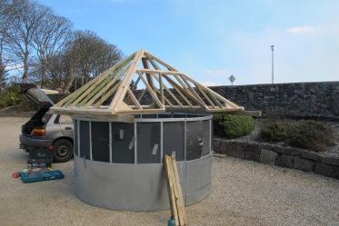 Under construction, Ballycroy community hall grounds.
