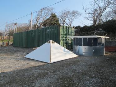 Roof and wall, Ballycroy community hall grounds.