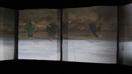 Inverted scene, from inside camera obscura