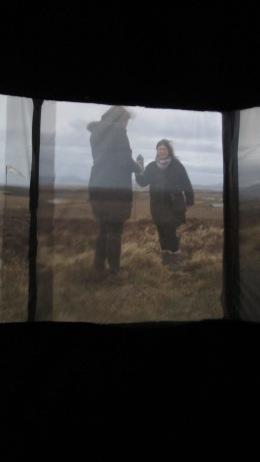 Rotated scene, camera obscura