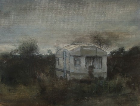 Caravan, oil on canvas, 25 x 18 cm, 2011