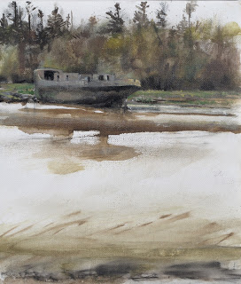 Vessel, oil on linen, 36 x 31 cm, 2011