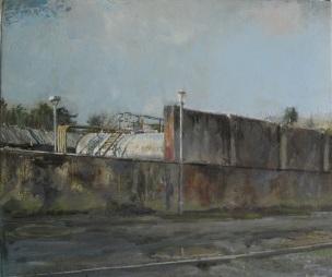 Diesel tank, oil on canvas, 42 x 36 cm, 2013