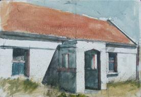 Front porch, Oil on canvas, 26 x 16 cm, 2012