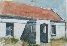 Front porch, Oil on canvas, 26 x 16 cm, 2012