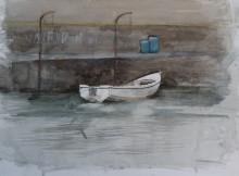 Harbour scene, watercolour, 30 x 40 cm, 2015