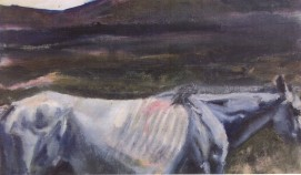 Fallow, oil and wax on canvas, mounted on panel, 33 x 21 cm, 2009