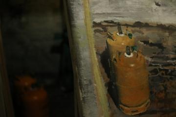 Cylinders, studio, 2017