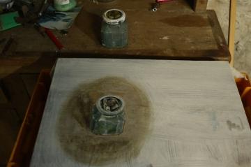 Turps jar, studio, 2017