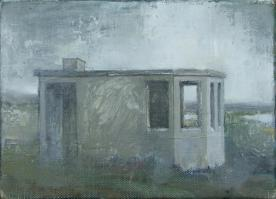 Look-out station, oil on linen, 20 x 16 cm, 2012