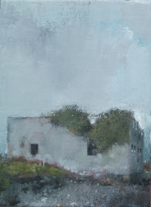 Norman-keep, oil on linen, 14 x 20 cm, 2011