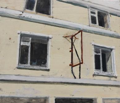 Old nightclub, oil on panel, 40 x 45.5 cm, 2016