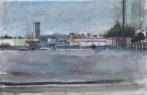 Scene from a car park, oil on canvas 30 x 19-5 cm, 2014