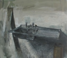 Sink, oil on canvas, 51 x 46 cm 2014