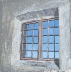 Workhouse,window, oil on canvas, 41 x 41 cm, 2014