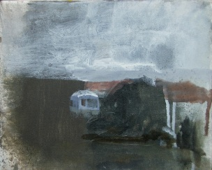 10x6in_ Aidan Crotty_Oil on canvas, mounted on panel_66 x 712014.Caravan