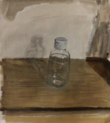 Medicine bottle, oil on canvas 26 x 24 cm, 2016