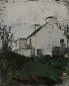 River Gable, (Winter). oil on linen, 30 x 24 cm, 2018