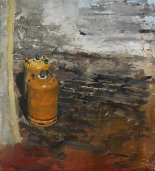 Cylinders, oil on linen, 31 x 46cm