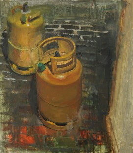 Cylinders, oil on linen, 66 x 76cm