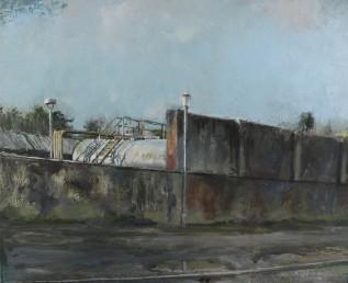Diesel Tank, oil on canvas, 25.5 x 31cm