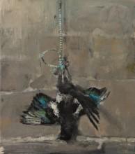 Magpie, oil on linen, 41 x36