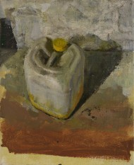 Plastic Drum, 25.5 x 21cm, oil on linen