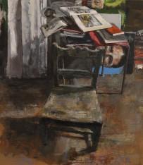 Studio Chair, oil on panel, 40 x 34.5cm
