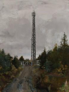 Telecommunication tower, 40 x 30 cm, oil on panel