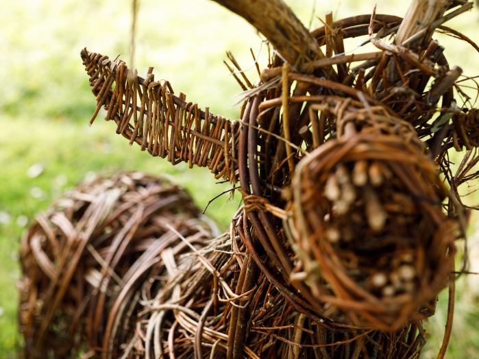 Willow Stag, detail. (photo, Steve Rogers Photography)