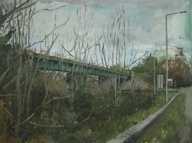Bridge, oil on panel, 60 cm x 46 cm, 2019