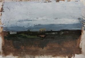 Moorland, oil on prepared paper, 29 cm x 39, 2019 cm