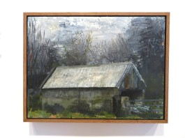 Winter Shed, oil on panel, 30 cm x 40 cm, 2018-19