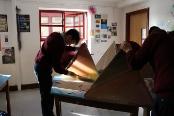 Workshop with students from St. Colemans, Claremorris.