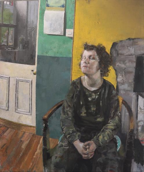 Aidan Crotty_Portrait of a boy, morning_oil on linen_2020