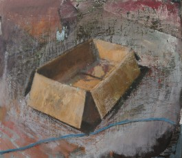 Cardboard box, oil on canvas, 30 x 40 cm