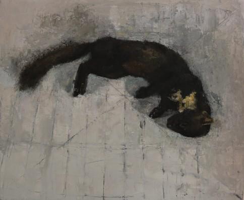 Pine Marten, oil on panel, 40 x 50 cm