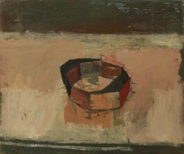 Tarnished bracelet, oil on linen, 25.5 x 30 cm